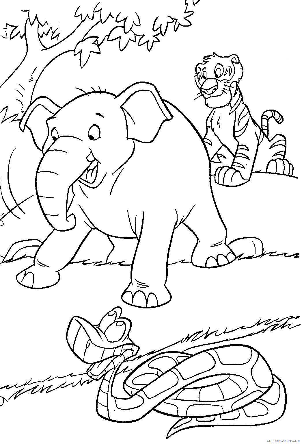 The Jungle Book Coloring Pages TV Film Free Jungle Book Printable 2020 08943 Coloring4free