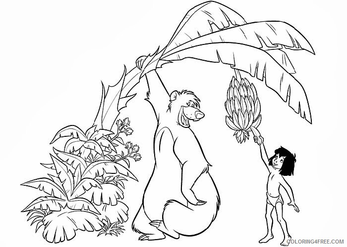 The Jungle Book Coloring Pages Tv Film Free Jungle Book Printable 2020 08944 Coloring4free Coloring4free Com