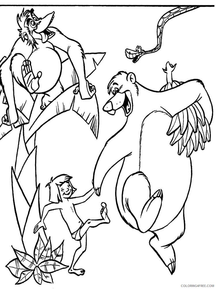 The Jungle Book Coloring Pages TV Film jungle book 12 Printable 2020 08959 Coloring4free