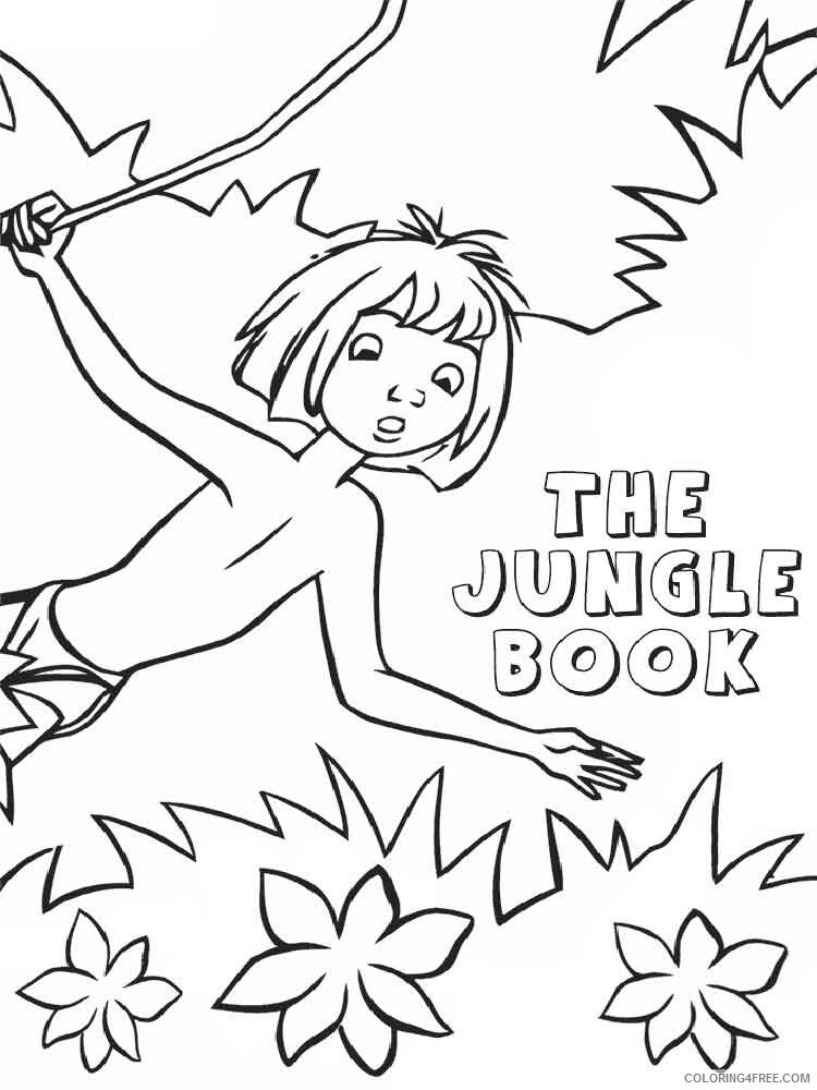 The Jungle Book Coloring Pages TV Film jungle book 13 Printable 2020 08961 Coloring4free