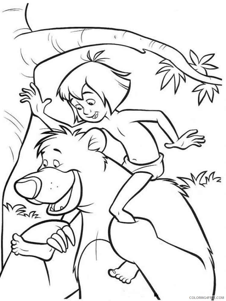 The Jungle Book Coloring Pages TV Film jungle book 22 Printable 2020 08967 Coloring4free