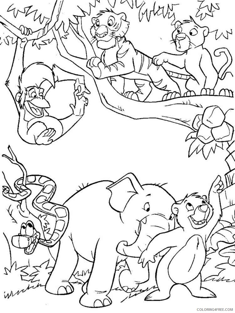 The Jungle Book Coloring Pages TV Film jungle book 30 Printable 2020 08973 Coloring4free