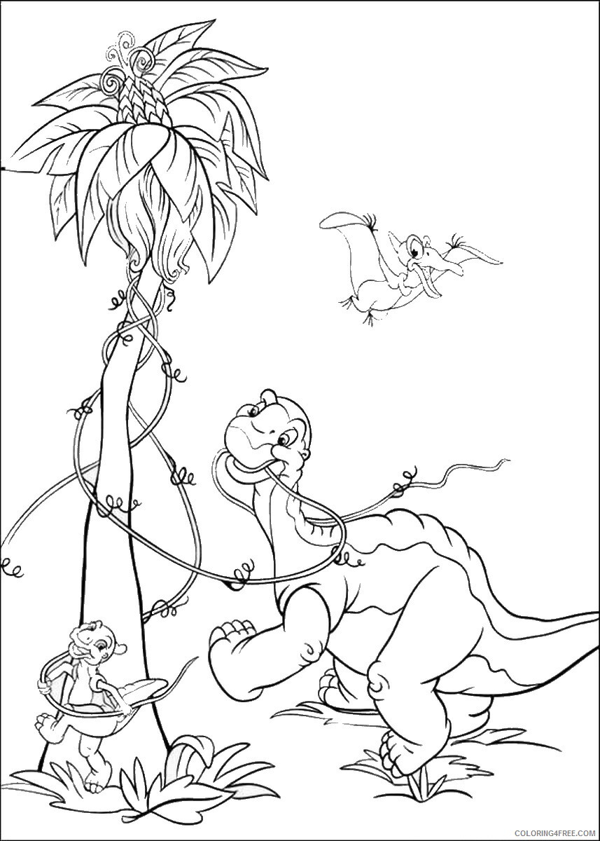 The Land Before Time Coloring Pages TV Film Printable 2020 09059 Coloring4free