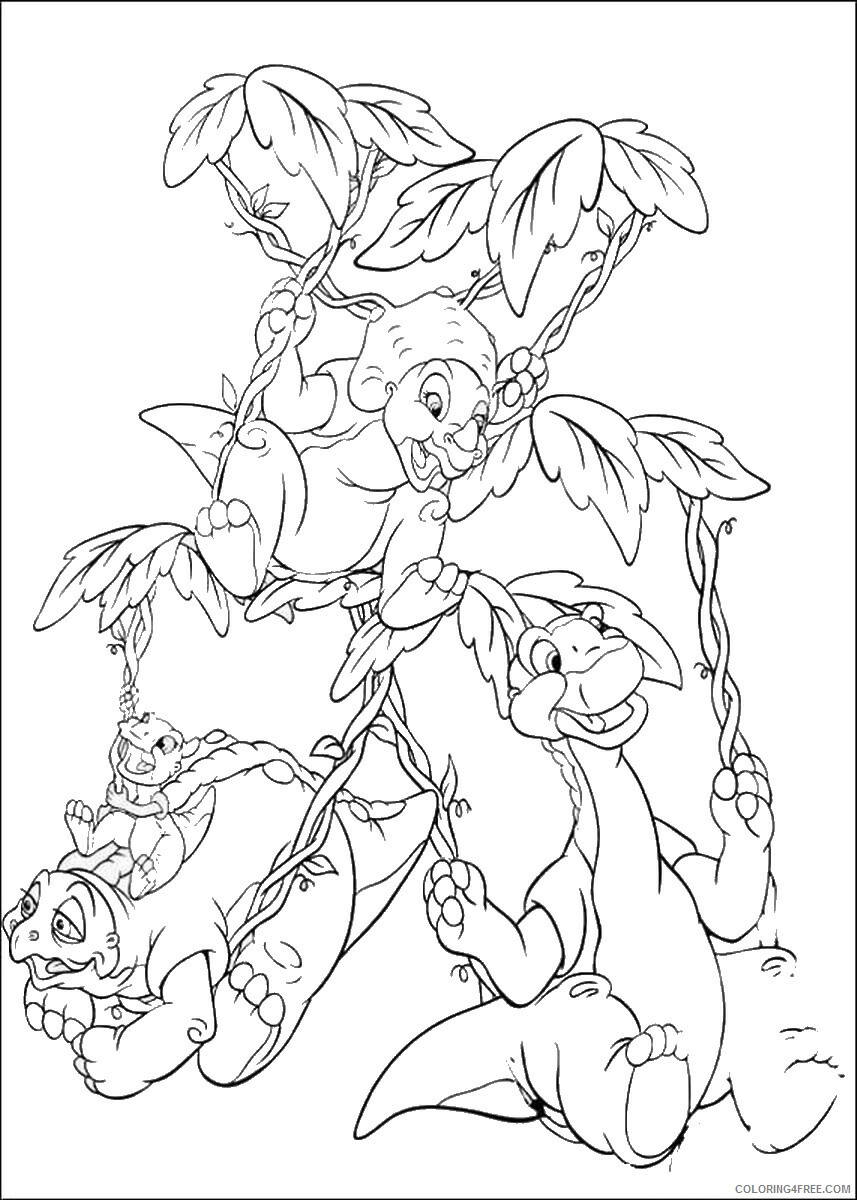 The Land Before Time Coloring Pages TV Film Printable 2020 09060 Coloring4free
