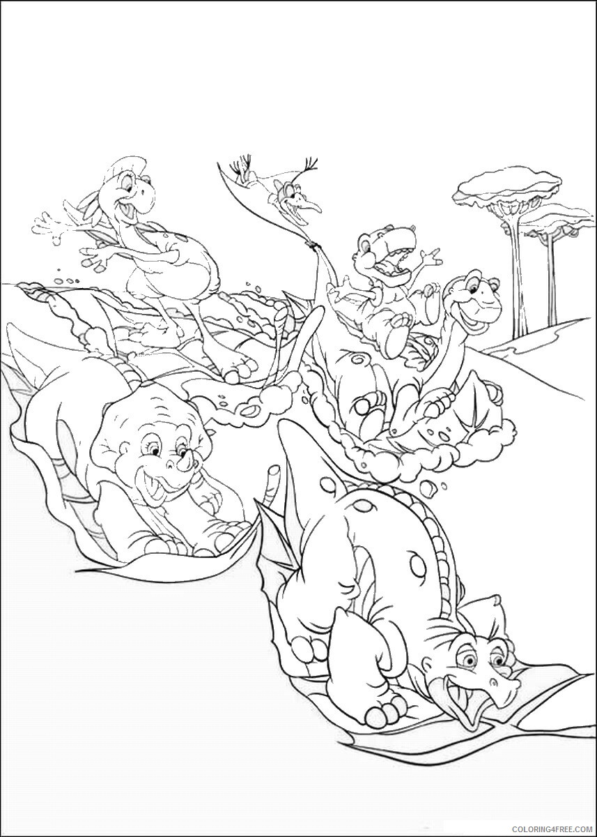 The Land Before Time Coloring Pages TV Film Printable 2020 09062 Coloring4free
