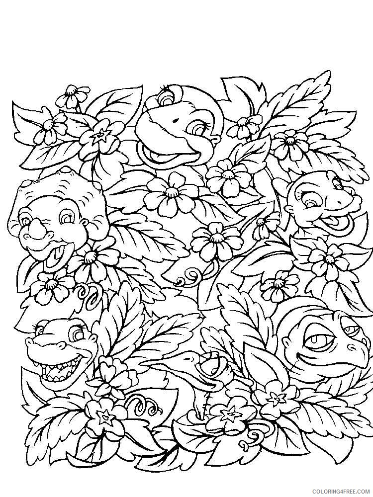 The Land Before Time Coloring Pages TV Film Printable 2020 09067 Coloring4free