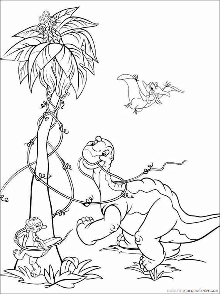 The Land Before Time Coloring Pages TV Film Printable 2020 09074  Coloring4free - Coloring4Free.com