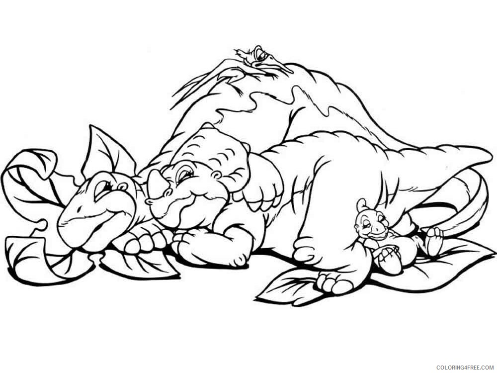 The Land Before Time Coloring Pages TV Film Printable 2020 09076 Coloring4free