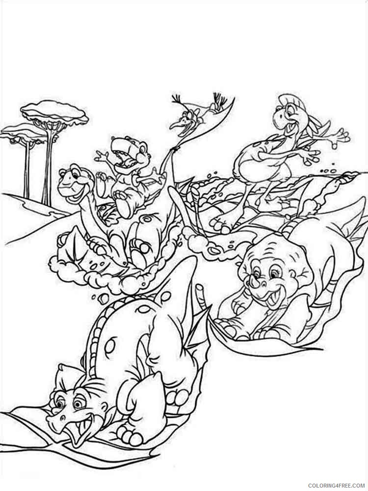 The Land Before Time Coloring Pages TV Film Printable 2020 09077 Coloring4free