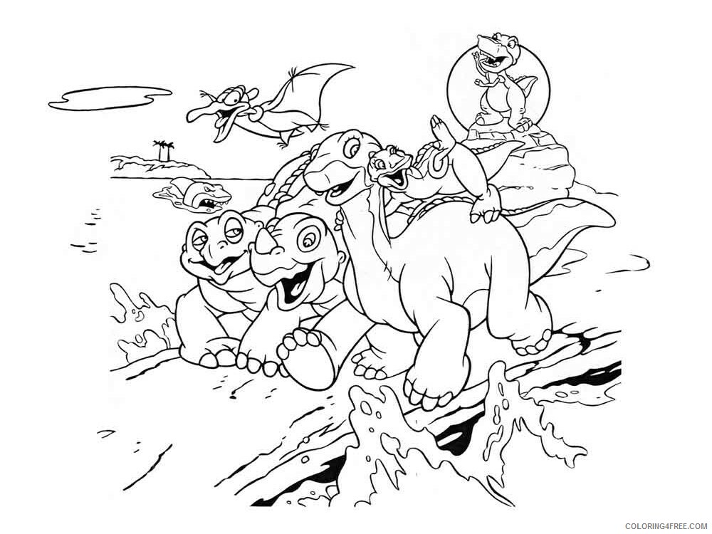 The Land Before Time Coloring Pages TV Film Printable 2020 09087 Coloring4free