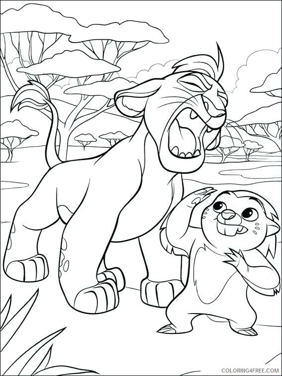 The Lion Guard Coloring Pages TV Film Color Kion Printable 2020 09092 Coloring4free