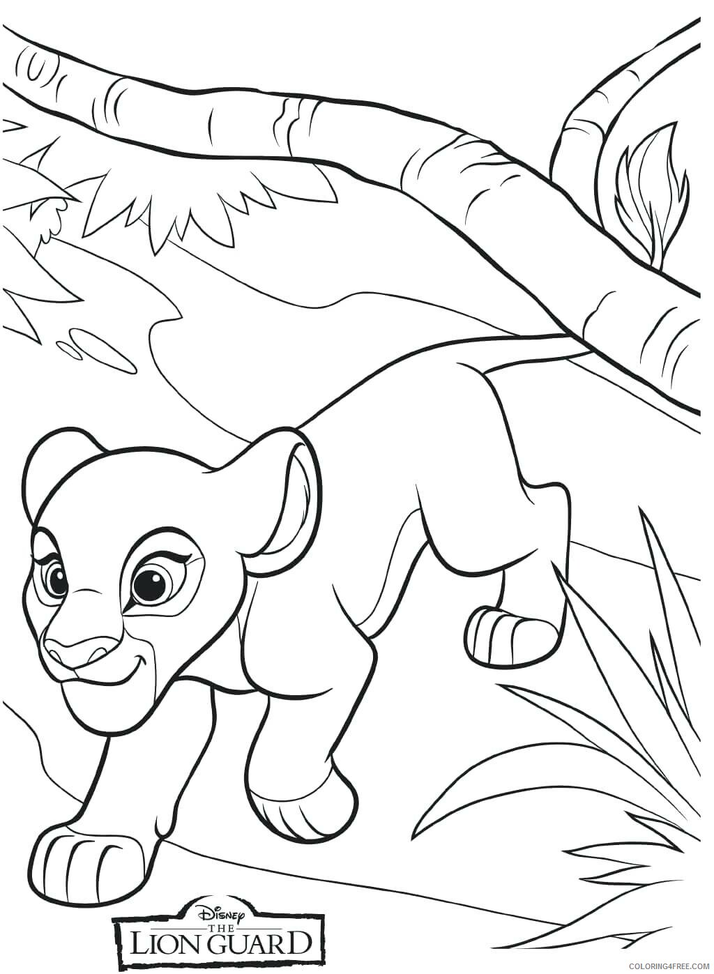 The Lion Guard Coloring Pages TV Film Kiara Lion Guard Printable 2020 09096 Coloring4free