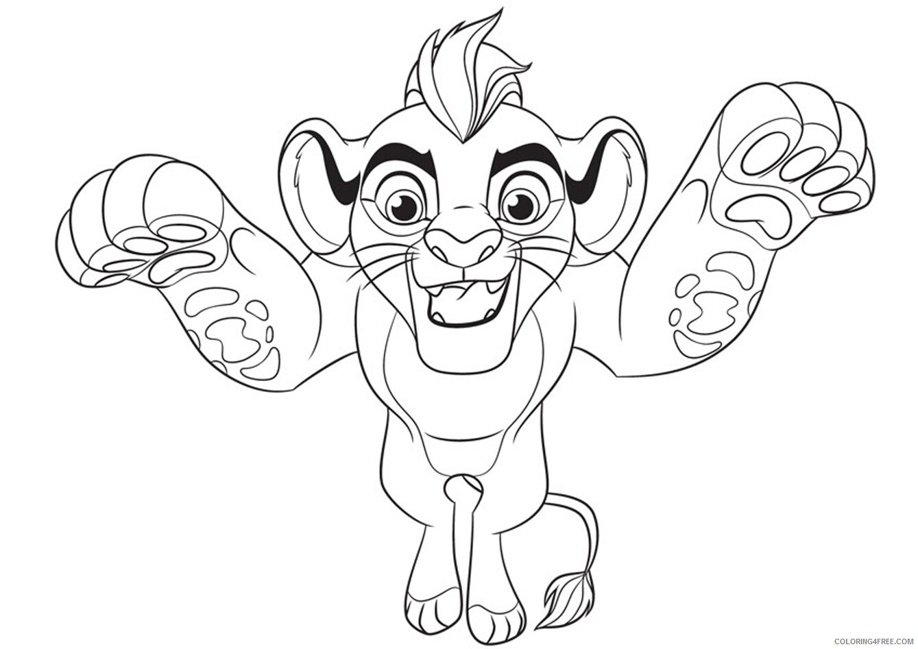 The Lion Guard Coloring Pages TV Film Kion Lion Guard Printable 2020 09097 Coloring4free