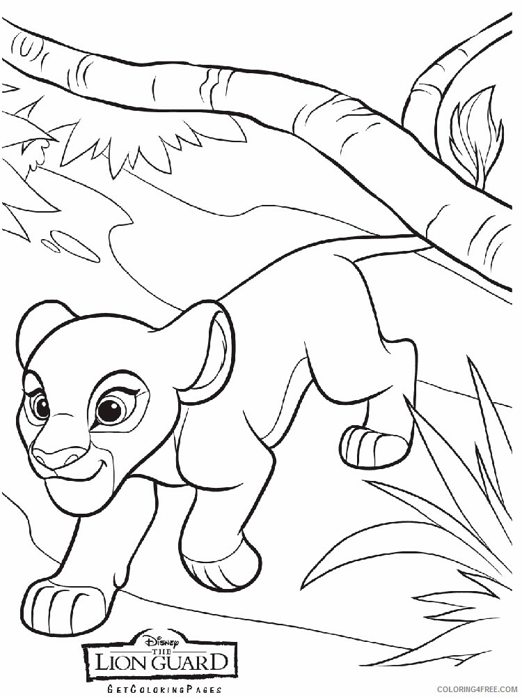 The Lion Guard Coloring Pages TV Film The Lion Guard 5 Printable 2020 09123 Coloring4free