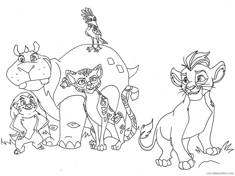 The Lion Guard Coloring Pages TV Film The Lion Guard 7 Printable 2020 09125 Coloring4free