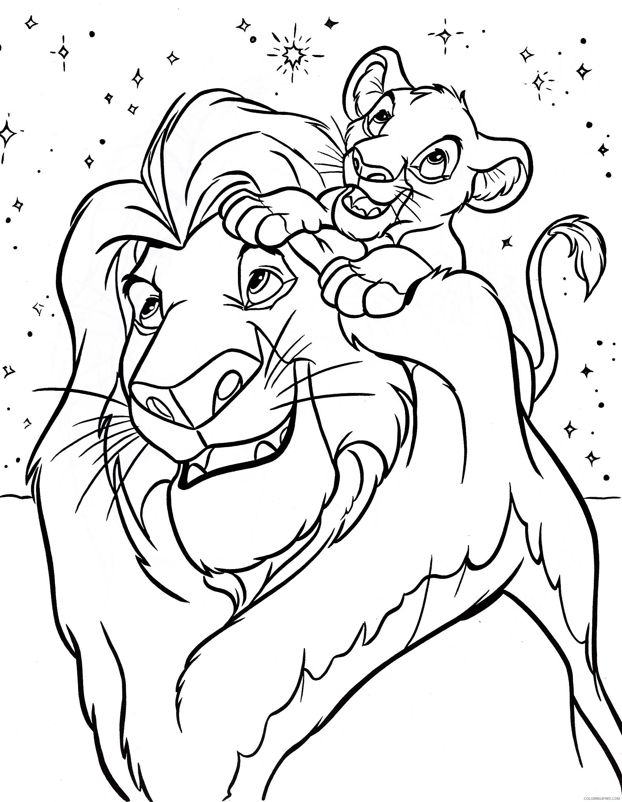 The Lion King Coloring Pages TV Film Disney Lion King Printable 2020 09131 Coloring4free