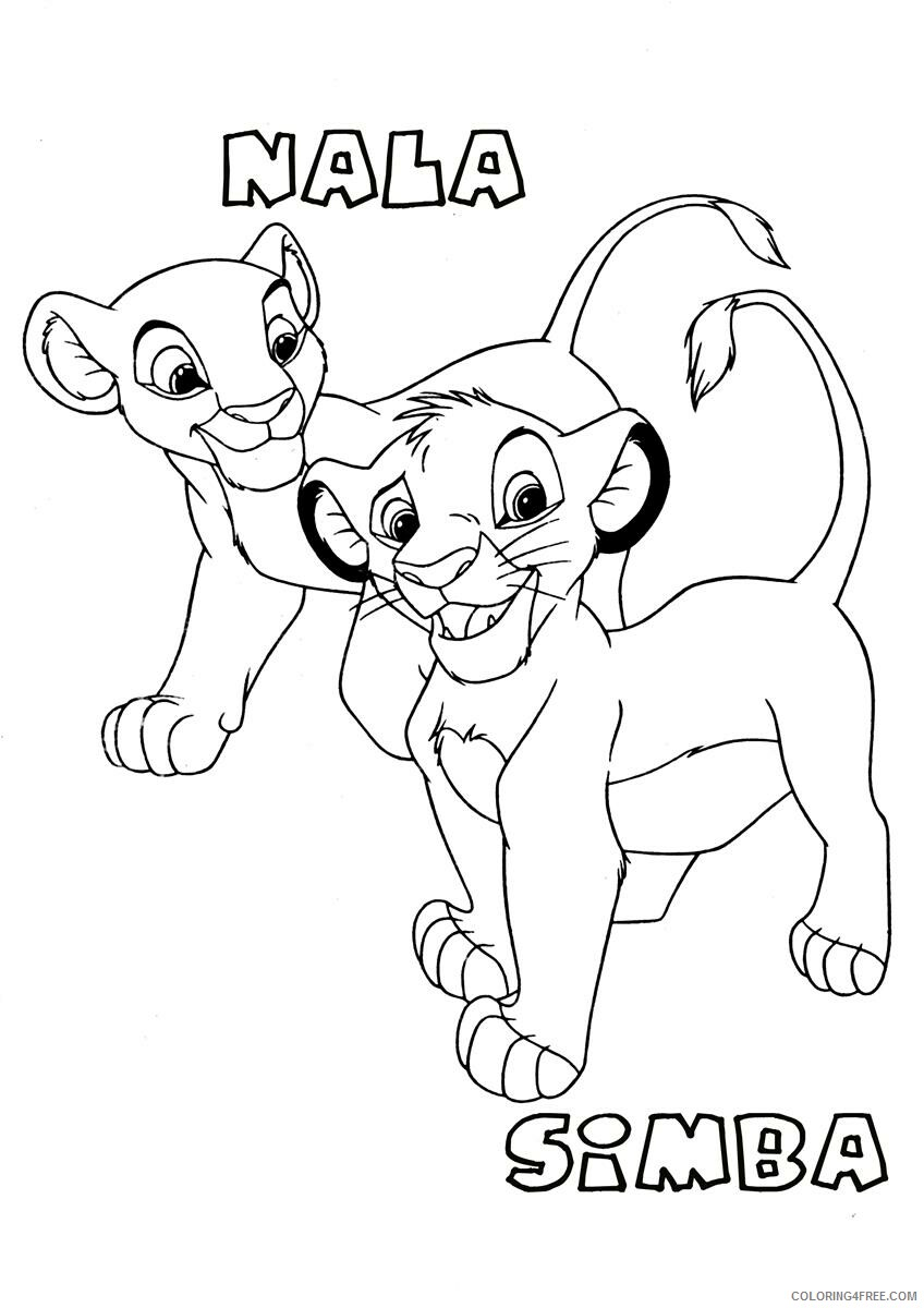 The Lion King Coloring Pages Tv Film Lion King Printable 2020 09214 Coloring4free Coloring4free Com