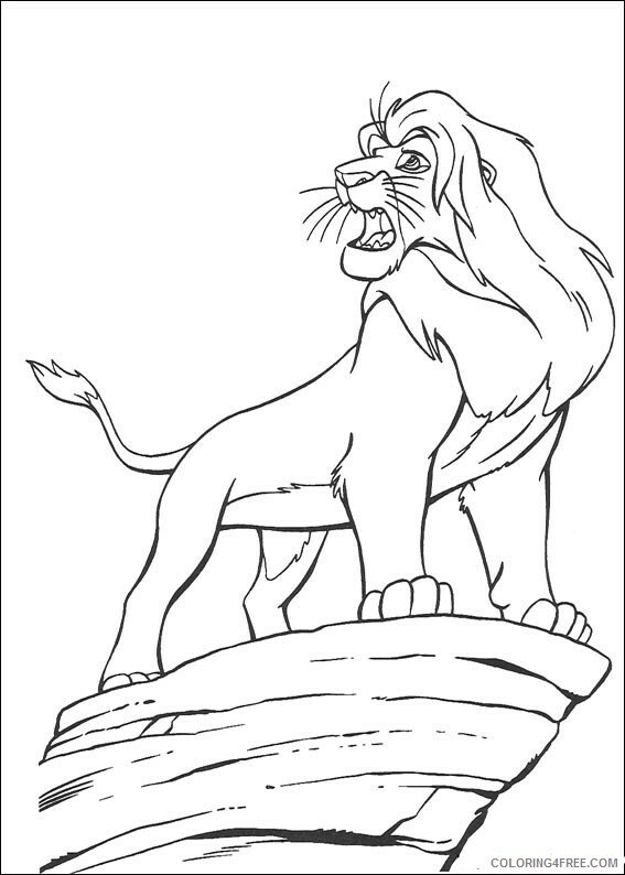 The Lion King Coloring Pages TV Film Lion King Simba Printable 2020 09226 Coloring4free