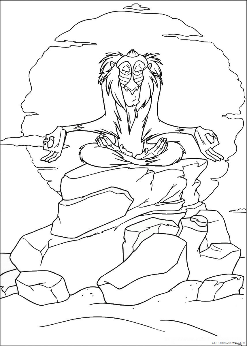 The Lion King Coloring Pages TV Film lionking_01 Printable 2020 09140 Coloring4free