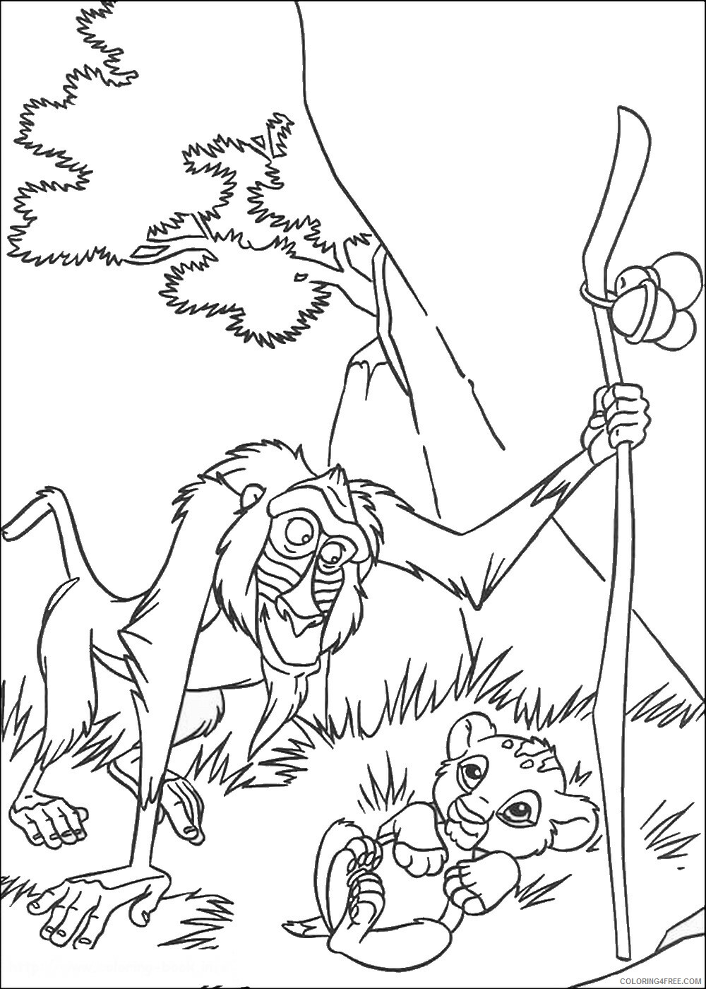 The Lion King Coloring Pages TV Film lionking_25 Printable 2020 09154 Coloring4free