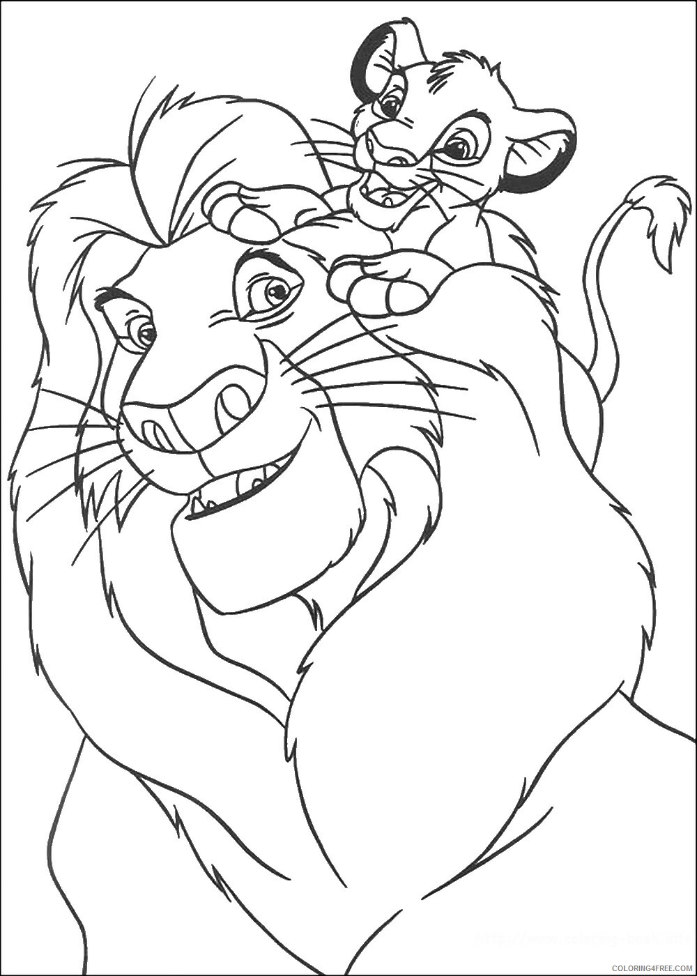 The Lion King Coloring Pages TV Film lionking_26 Printable 2020 09155 Coloring4free