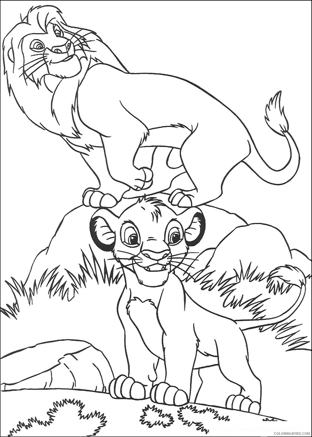 The Lion King Coloring Pages TV Film lionking_27 Printable 2020 09156 Coloring4free