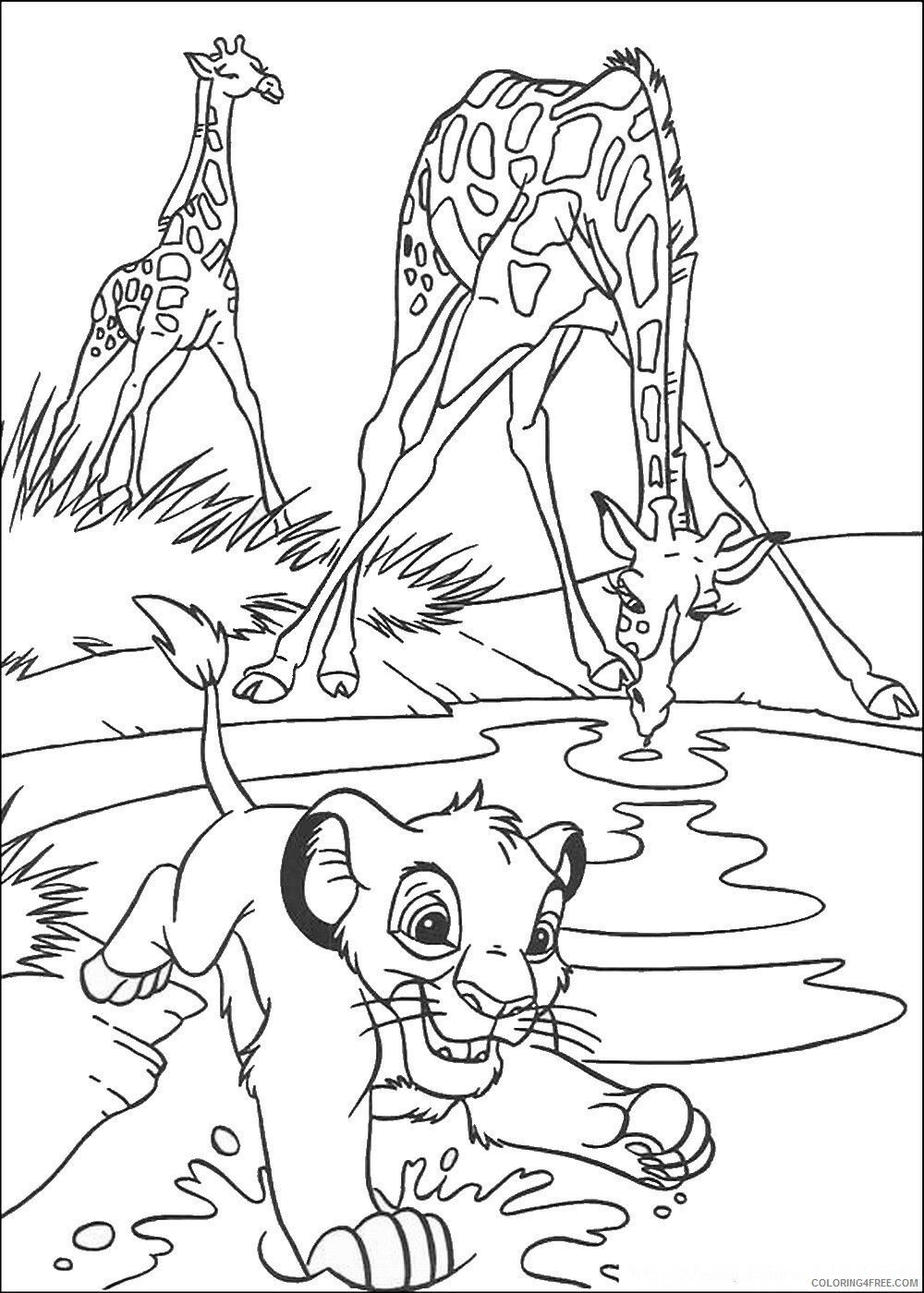 The Lion King Coloring Pages TV Film lionking_30 Printable 2020 09158 Coloring4free