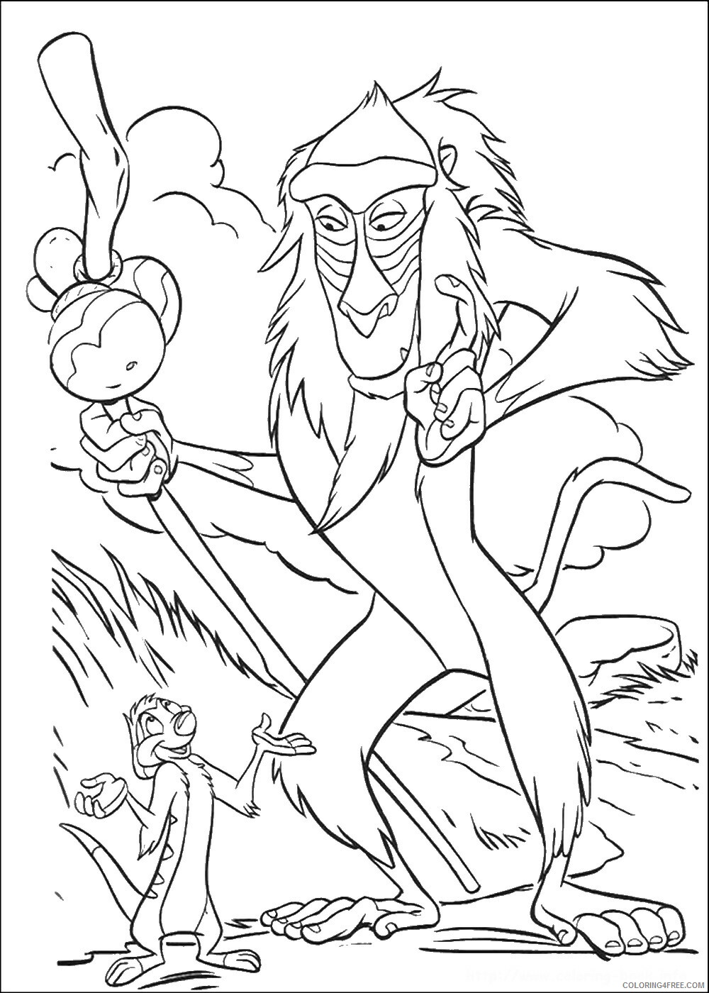 The Lion King Coloring Pages TV Film lionking_39 Printable 2020 09163 Coloring4free