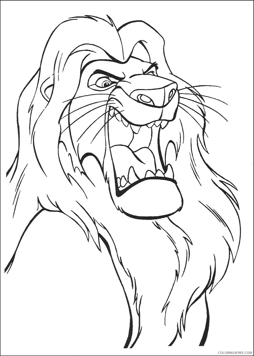 The Lion King Coloring Pages TV Film lionking_53 Printable 2020 09175 Coloring4free