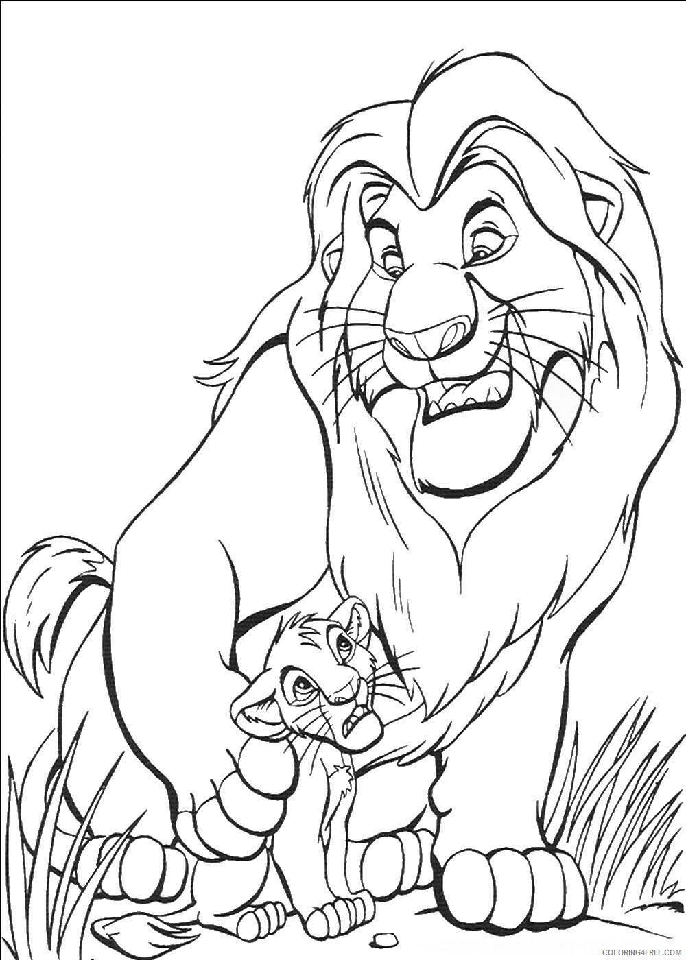 The Lion King Coloring Pages TV Film lionking_56 Printable 2020 09178 Coloring4free