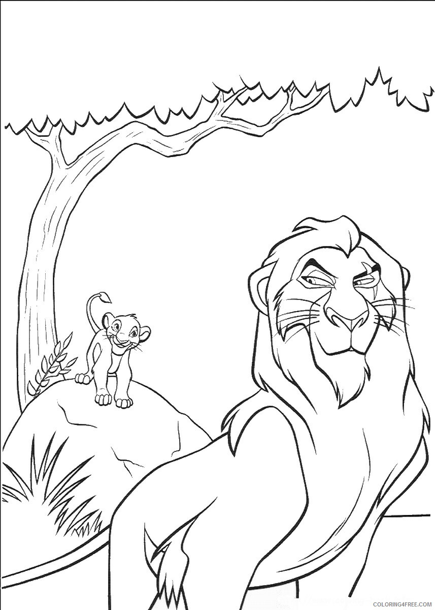 The Lion King Coloring Pages TV Film lionking_57 Printable 2020 09179 Coloring4free