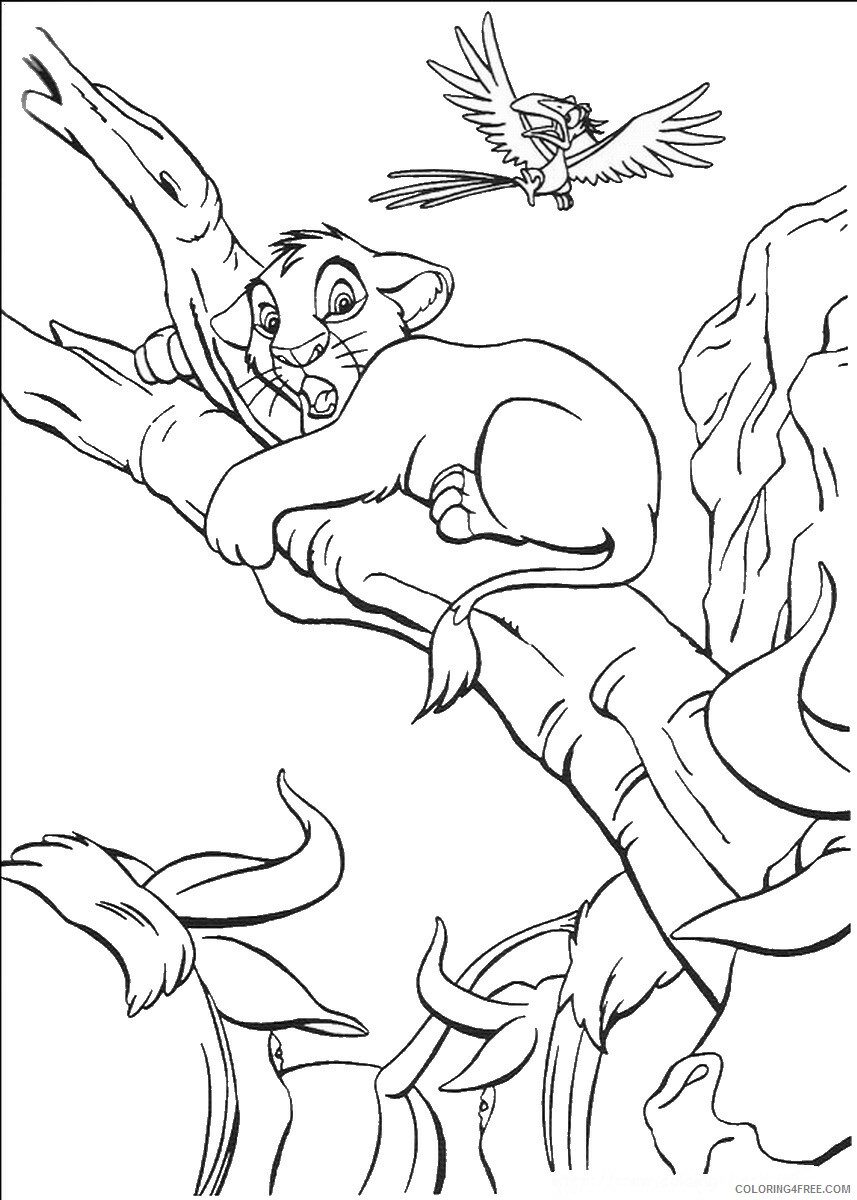 The Lion King Coloring Pages TV Film lionking_62 Printable 2020 09182 Coloring4free