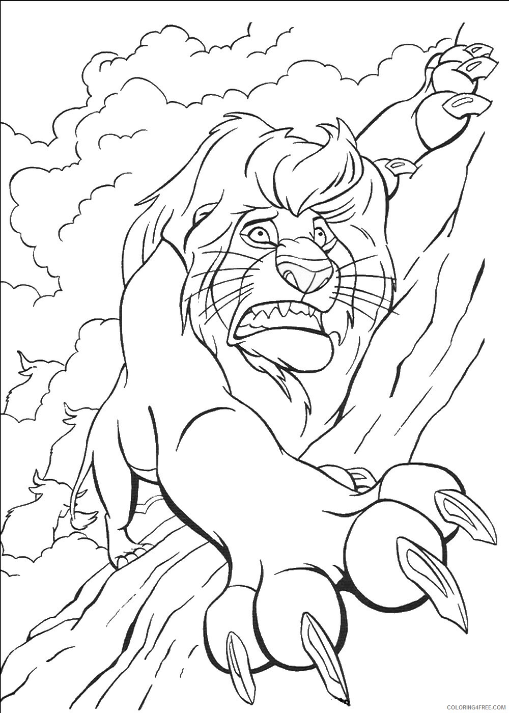 The Lion King Coloring Pages TV Film lionking_64 Printable 2020 09184 Coloring4free