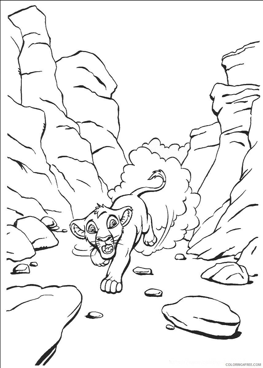 The Lion King Coloring Pages TV Film lionking_66 Printable 2020 09185 Coloring4free
