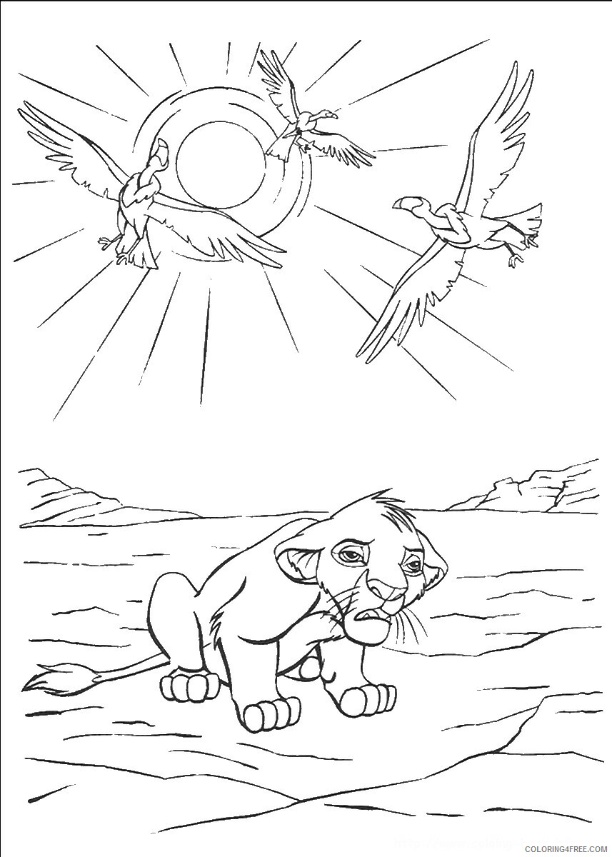 The Lion King Coloring Pages TV Film lionking_71 Printable 2020 09187 Coloring4free