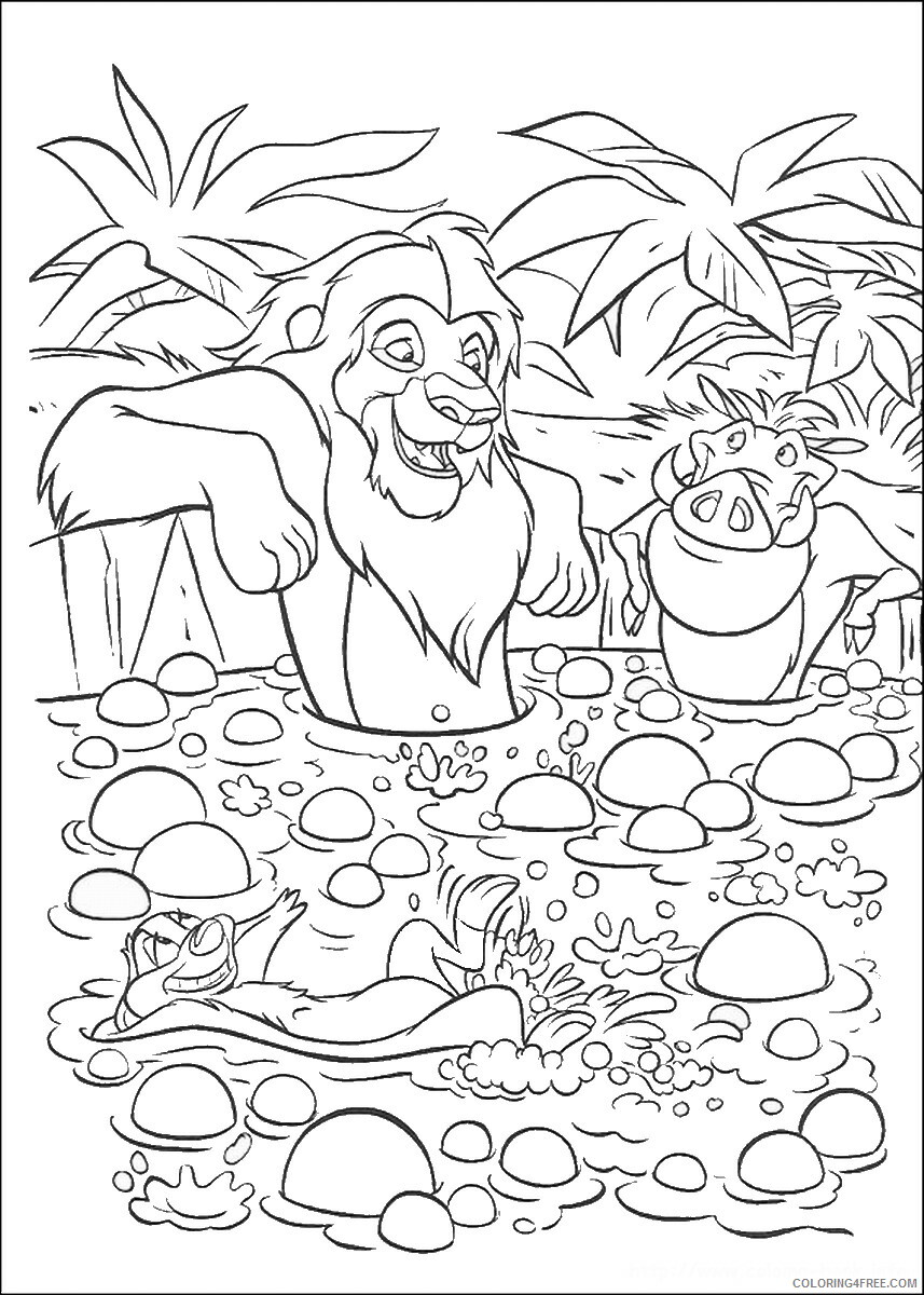 The Lion King Coloring Pages TV Film lionking_82 Printable 2020 09197 Coloring4free