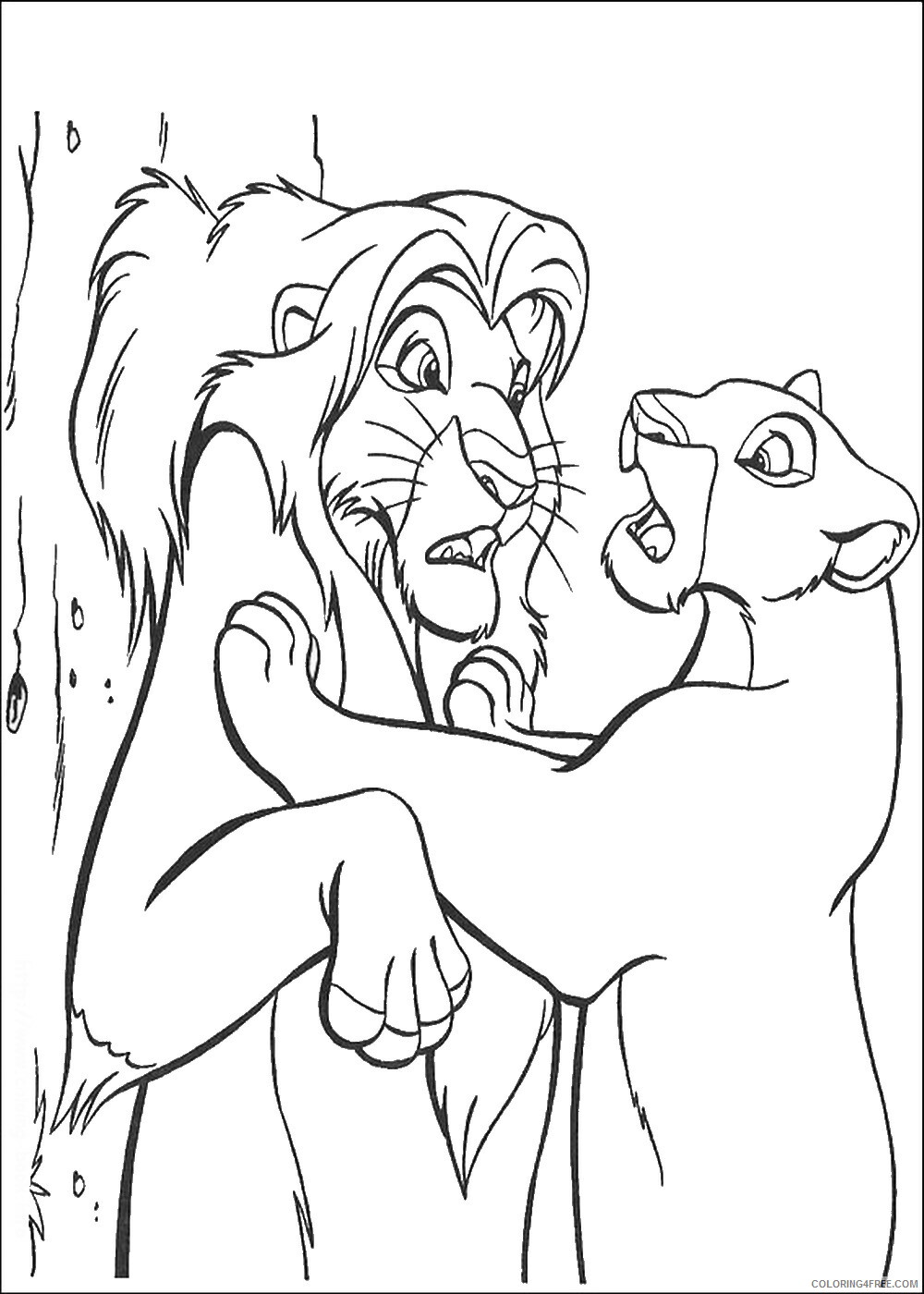 The Lion King Coloring Pages TV Film lionking_88 Printable 2020 09203 Coloring4free