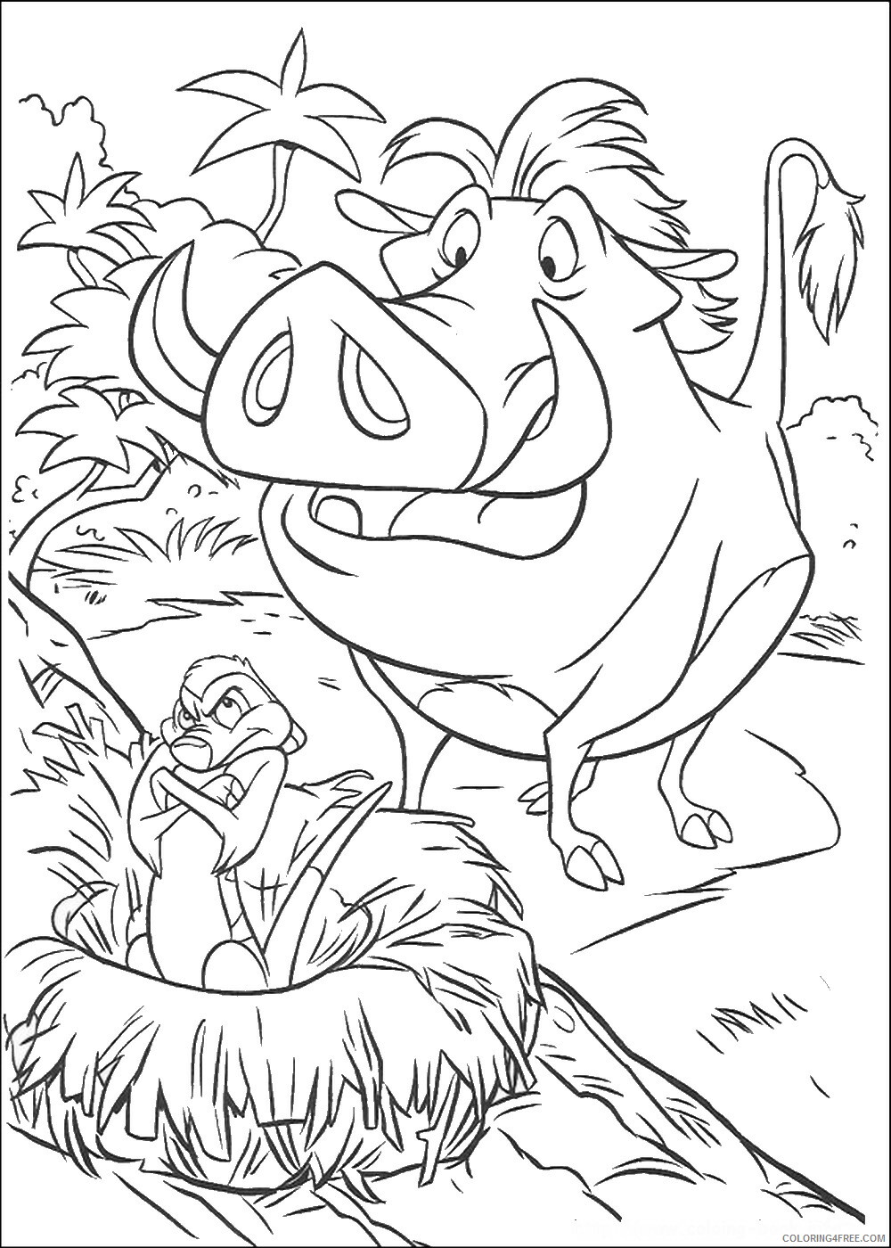 The Lion King Coloring Pages TV Film lionking_94 Printable 2020 09207 Coloring4free