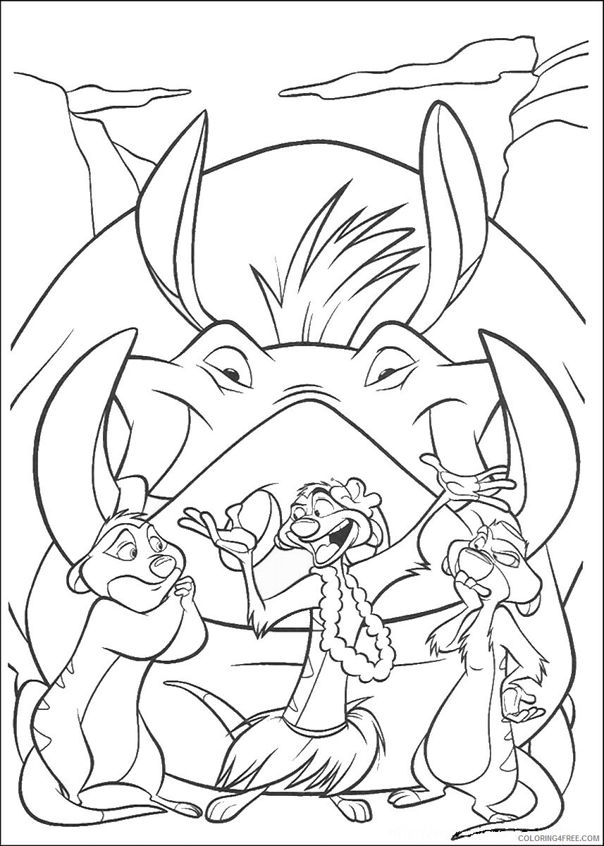 The Lion King Coloring Pages TV Film lionking_99 Printable 2020 09211 Coloring4free