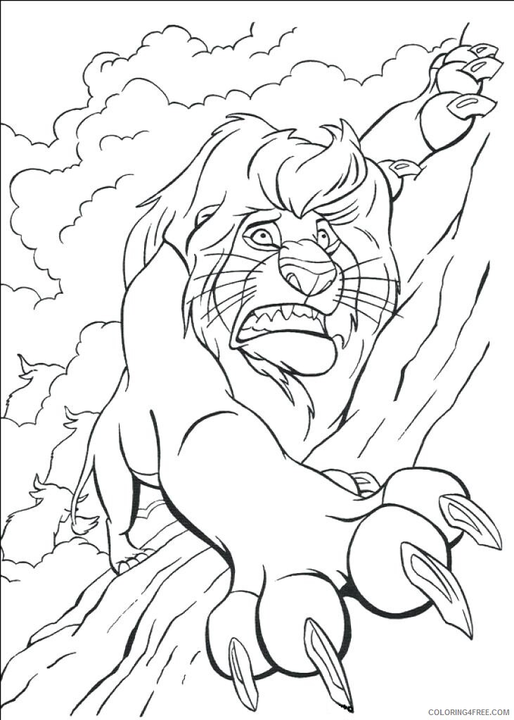 The Lion King Coloring Pages TV Film on book Printable 2020 09127 Coloring4free