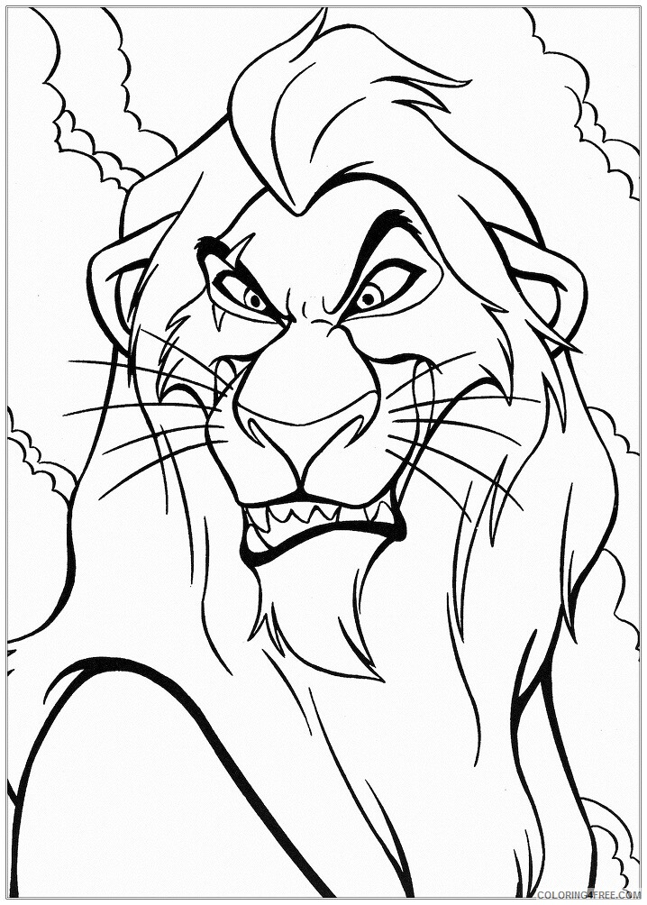 The Lion King Coloring Pages TV Film simba children kids free baby 2020 09128 Coloring4free