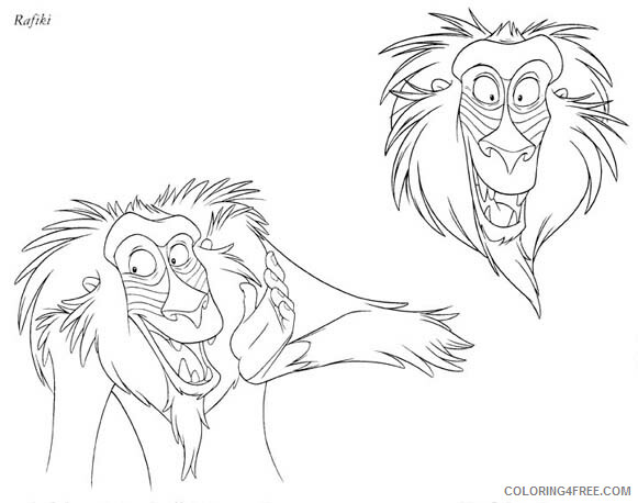 The Lion King Coloring Pages TV Film the lion king 8 2 Printable 2020 09240 Coloring4free