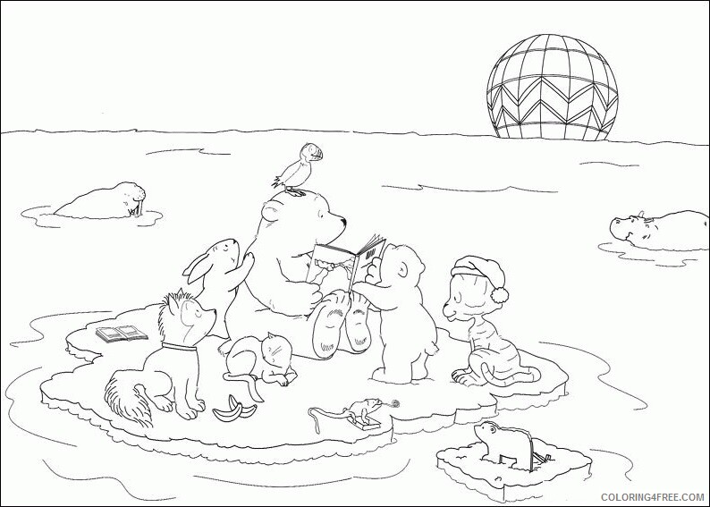 The Little Polar Bear Coloring Pages TV Film Printable 2020 09256 Coloring4free