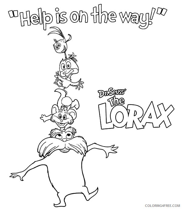 The Lorax Coloring Pages TV Film Dr Seuss Help is on the Way 2020 09285 Coloring4free