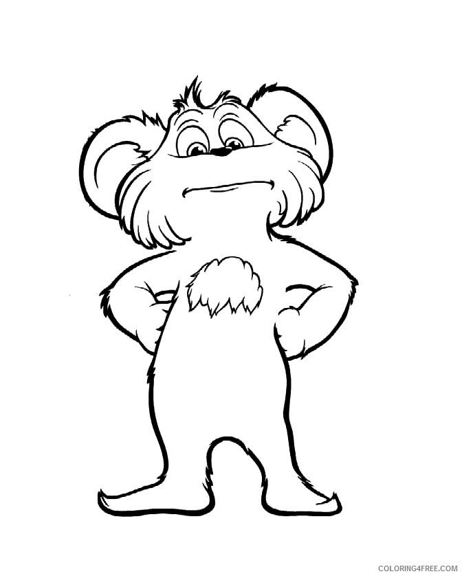 The Lorax Coloring Pages TV Film Lorax Bears Printable 2020 09290 Coloring4free