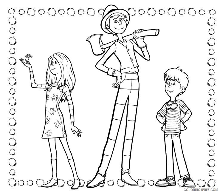 The Lorax Coloring Pages TV Film Lorax Characters Printable 2020 09291 Coloring4free