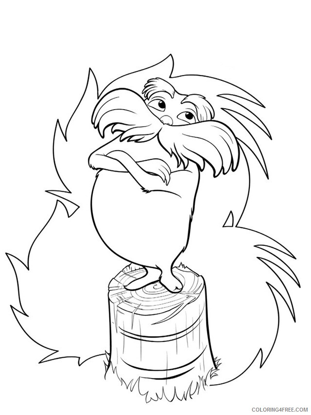 The Lorax Coloring Pages TV Film Lorax Sheets Printable 2020 09309 Coloring4free