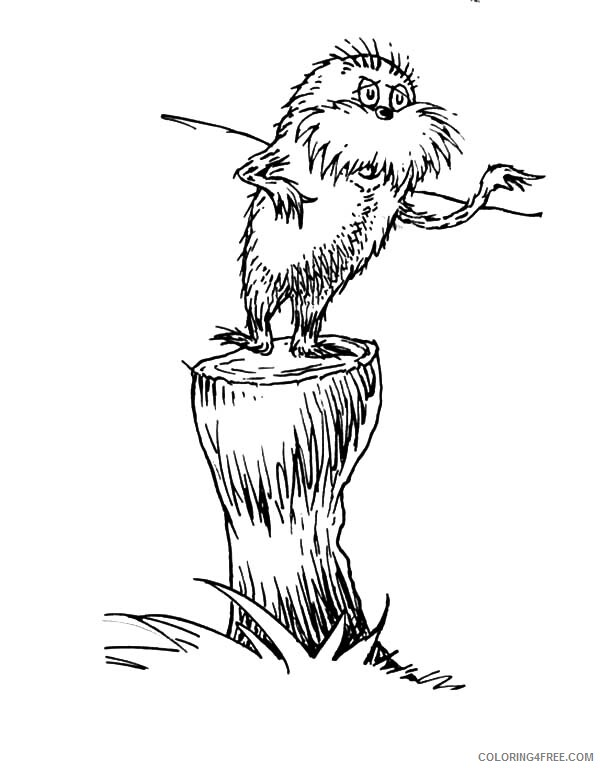 The Lorax Coloring Pages TV Film Protest to the Onceler Printable 2020 09346 Coloring4free