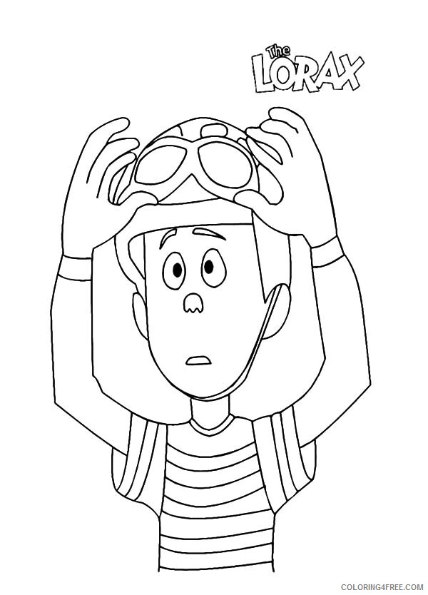 The Lorax Coloring Pages TV Film Ted Wiggins Put on His Helmet Printable 2020 09348 Coloring4free