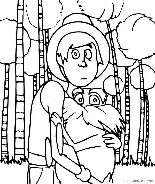 The Lorax Coloring Pages TV Film The Onceler with the Lorax Printable 2020 09352 Coloring4free